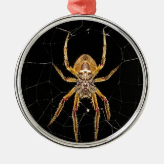 Spider design metal ornament