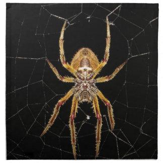 Spider design napkin