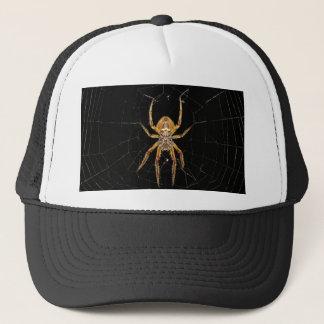 Spider design trucker hat