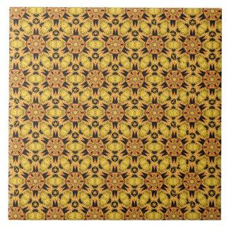Spider Fangs Dandelion Yellow Ceramic Tile