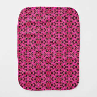 Spider Fangs Hot Pink Baby Burp Cloth
