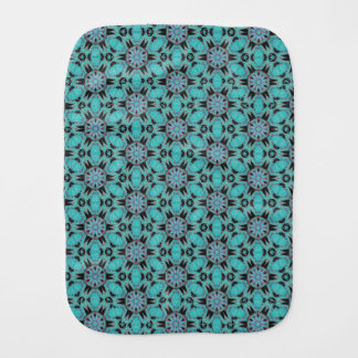 Spider Fangs Turquoise Baby Burp Cloth