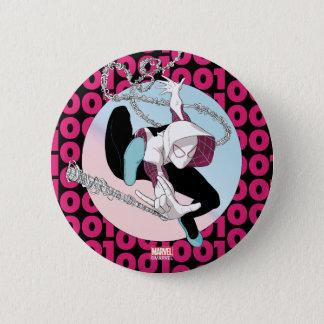 Spider-Gwen Binary Code 6 Cm Round Badge
