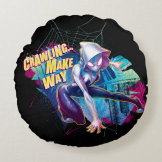 Spider-Gwen: Crawling… Make Way Round Cushion