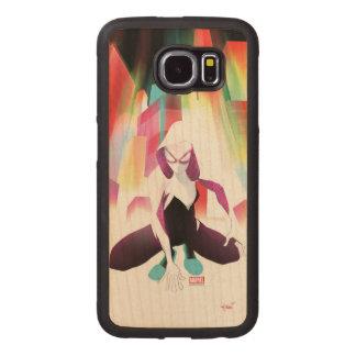 Spider-Gwen Neon City Wood Phone Case