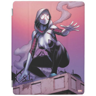Spider-Gwen On Rooftop iPad Cover