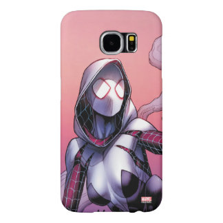 Spider-Gwen On Rooftop Samsung Galaxy S6 Cases