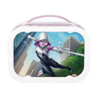 Spider-Gwen Web Slinging Through City Lunch Box