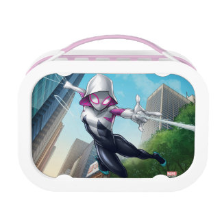 Spider-Gwen Web Slinging Through City Lunchboxes