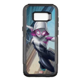 Spider-Gwen Web Slinging Through City OtterBox Commuter Samsung Galaxy S8+ Case