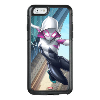 Spider-Gwen Web Slinging Through City OtterBox iPhone 6/6s Case