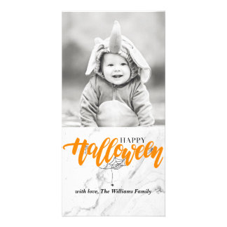 Spider Halloween Photocards Photo Greeting Card