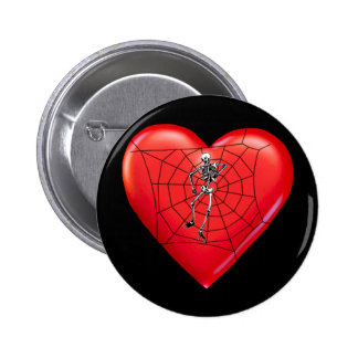 Spider Heart 6 Cm Round Badge