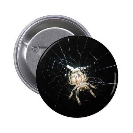 Spider in Web Button
