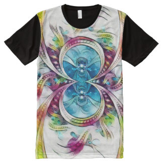 Spider Infinity Symbol Watercolor Art All-Over Print T-Shirt