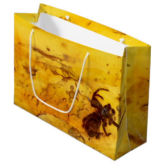 Spider inside baltic amber stone large gift bag