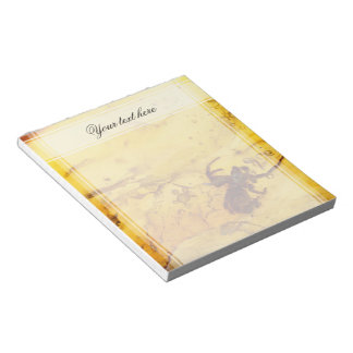 Spider inside baltic amber stone notepad