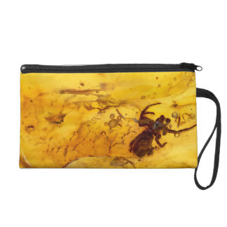 Spider inside baltic amber stone wristlet