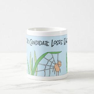 Spider loses election coffee mug
