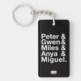 Spider-Man Alternates Ampersand Graphic Key Ring
