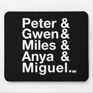 Spider-Man Alternates Ampersand Graphic Mouse Pad