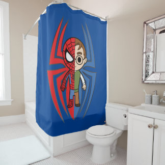 Spider-Man and Peter Parker Dual Identity Shower Curtain