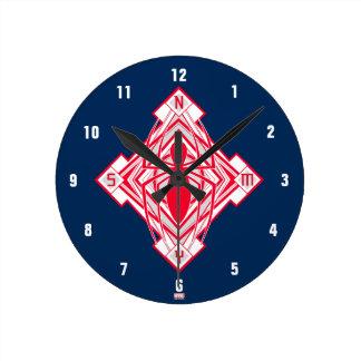 Spider-Man Art Deco NY Emblem Round Clock