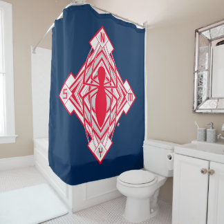 Spider-Man Art Deco NY Emblem Shower Curtain