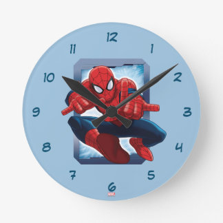 Spider-Man Character Card Round Clock