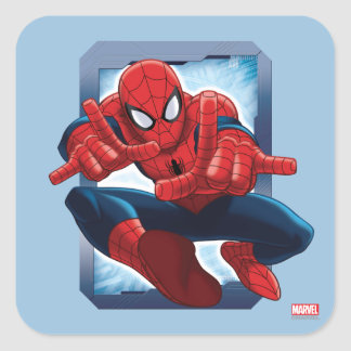 Spider-Man Character Card Square Sticker