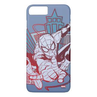 Spider-Man & City Sketch iPhone 8 Plus/7 Plus Case