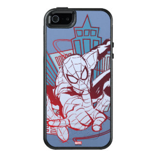 Spider-Man & City Sketch OtterBox iPhone 5/5s/SE Case