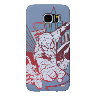 Spider-Man & City Sketch Samsung Galaxy S6 Cases