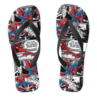 Spider-Man Comic Panel Pattern Thongs