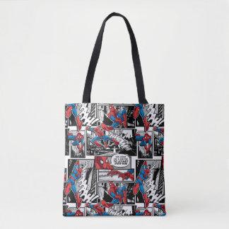 Spider-Man Comic Panel Pattern Tote Bag