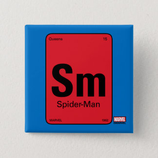 Spider-Man Element Scientific Formula 15 Cm Square Badge