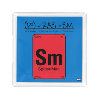 Spider-Man Element Scientific Formula Acrylic Tray