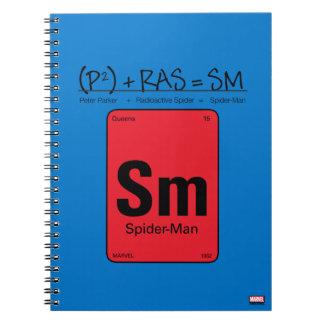 Spider-Man Element Scientific Formula Notebooks