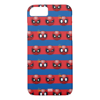 Spider-Man Emoji Stripe Pattern iPhone 8/7 Case