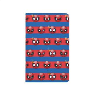 Spider-Man Emoji Stripe Pattern Journal