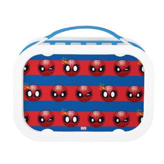 Spider-Man Emoji Stripe Pattern Lunch Box
