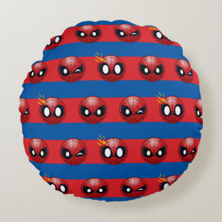 Spider-Man Emoji Stripe Pattern Round Cushion