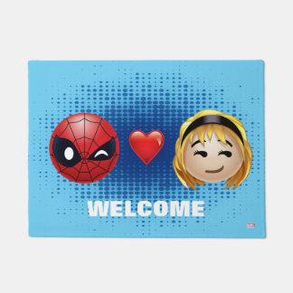 Spider-Man & Gwen Heart Emoji Doormat