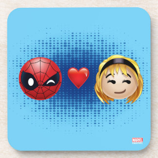 Spider-Man & Gwen Heart Emoji Drink Coasters