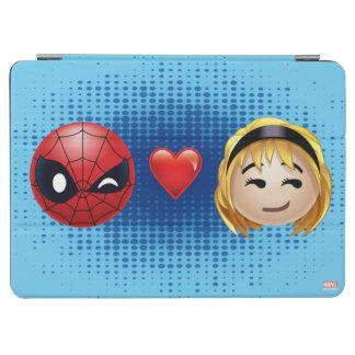 Spider-Man & Gwen Heart Emoji iPad Air Cover