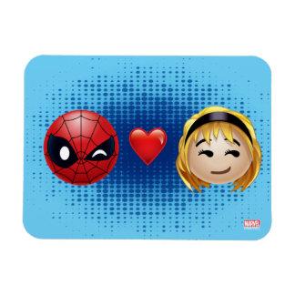 Spider-Man & Gwen Heart Emoji Magnet