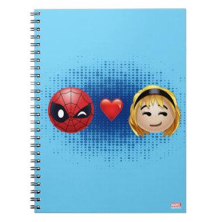 Spider-Man & Gwen Heart Emoji Notebook