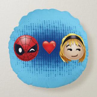 Spider-Man & Gwen Heart Emoji Round Cushion