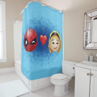 Spider-Man & Gwen Heart Emoji Shower Curtain