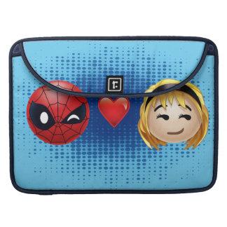 Spider-Man & Gwen Heart Emoji Sleeve For MacBook Pro